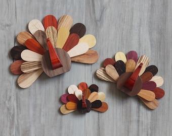 Handmade Wooden Turkeys