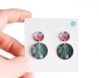 Gum tree flower dangle Earrings - Nature Earrings - Australiana - Australian native flower