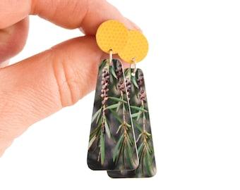 Gum tree Statement Earrings - Australian earrings - Australian native plants