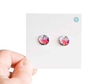 Gum tree flower stud Earrings - Australiana - Summer fashion - Australian native flower