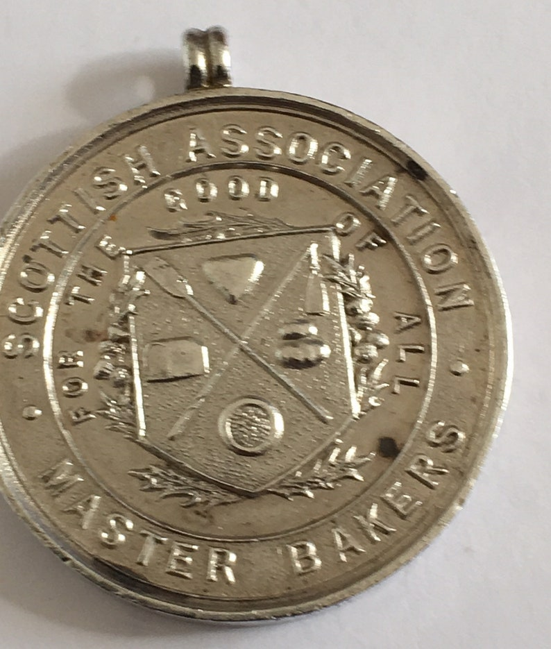 Maud Aberdeenshire . Scottish Association of Master Baker Silver Medal 1904-32mm diameter awarded to Keith Forrest