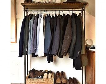 vintage style clothes rail uk, hangers & clothing storage | etsy uk, Design ideen