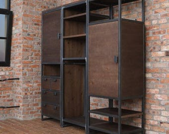 Superbe Shard Industrial Wardrobe Unit
