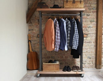 Industrial Shelving Clothes Rail