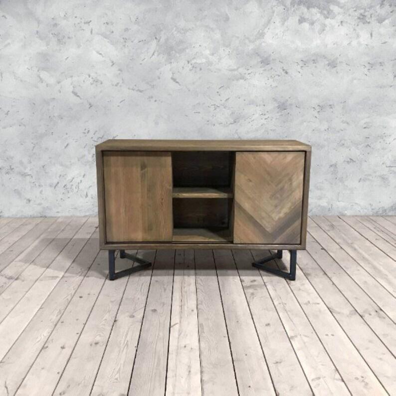 Chirk Herringbone Pine Sideboard