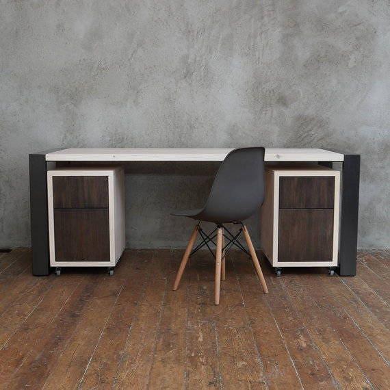 Arc Square Shaped Legs Office Desk