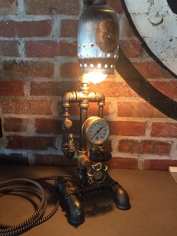Lighting-Industrial Lamp-Industrial Lighting-Steampunk Lighting-Steampunk Lamp-Pipe Light-industrial Light-Fathers Day-Desk Light-Steampunk