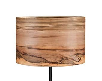 Floor Lamp - Wooden Lamp - Modern Floor Lamp - Natural Wood Shade - Veneer Floor Lamp - Lampshades - Wood Lamps