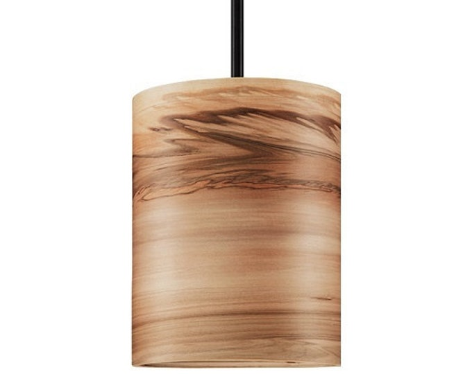 "Special order for Lori -Wood Pendant Lamp- Satin Walnut -Diameter 10""/Height 11"""