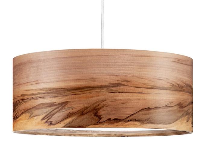 Wood Pendant Lamp - Hanging Chandelier - Drop Light - Dining Room Lighting - Satin Walnut - SVEN