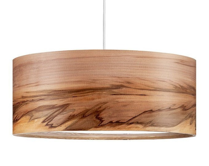 Special order for Lilly - Natural Wood Pendant Lamp - European Walnut - White Cord and Canopy