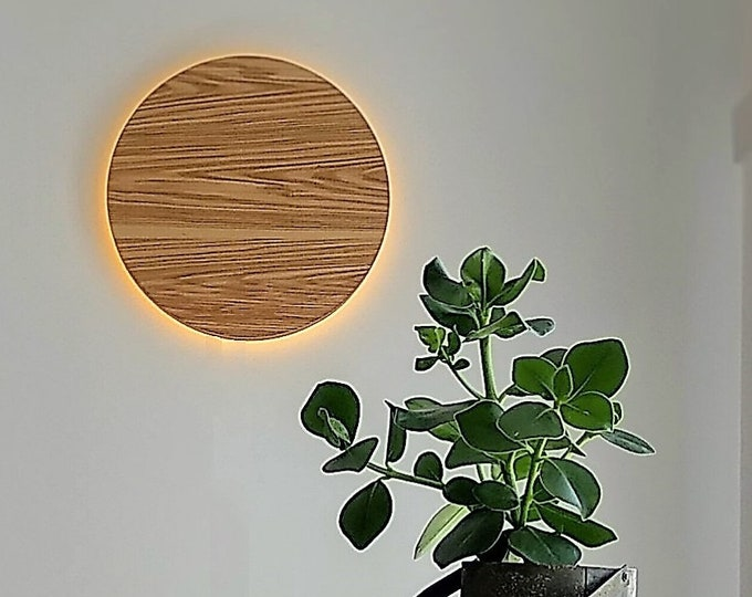 Wood Sconce - Wood Wall Lamp Modern Simple Lamp Moon Lamp Wood Accent Wall Sconce  New Nordic Lamp  Design Lamp