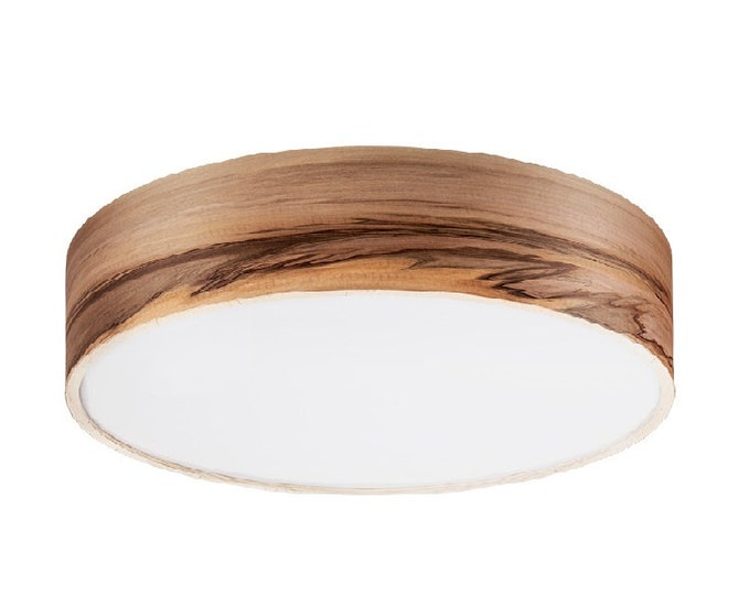 Special order For Tim - Flush Mount - Floating Lamp - Wood Veneer Light - 4 bulbs E26