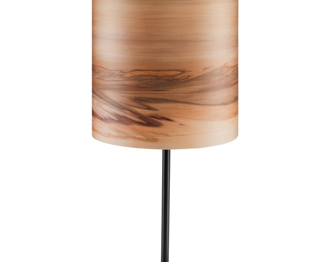 Night Lights SVEN - Bedside Light - Wood shade - Reading Lamp - Table Lamp - Natural Satin Walnut Veneer