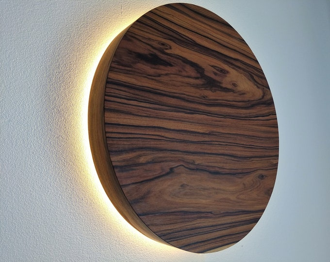 LED Wood Sconce, Wooden Wall Lamp, LED Light, Natural Wood Light, New Nordic Design,  JACARANDA