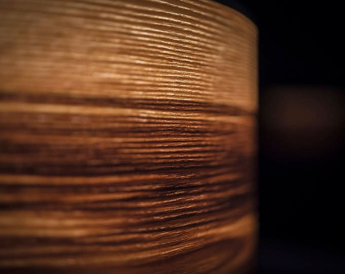 Lamp Shade Heartwood Ash Wood - drum lampshade natural wood livingroom decor wooden ceiling light