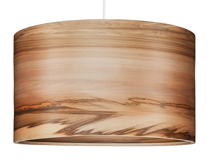 Wood Hanging Lamp, Natural Satin Walnut Veneer, Interior Design Trends, SVEN