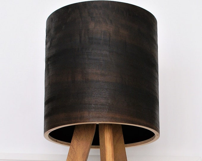 Tripod Table Lamp - Eucalyptus Shade - Natural Wood - Night Light - Bedside Lamp - Modern Lamp - Natural Art