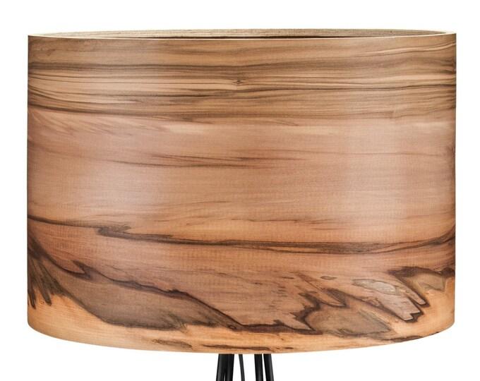 Tripod Wooden Floor Lamp - Veneer Lamp Shade - Satin Walnut - Natural Wood Lamps - Lighting - Modern Lamps - Lampshades