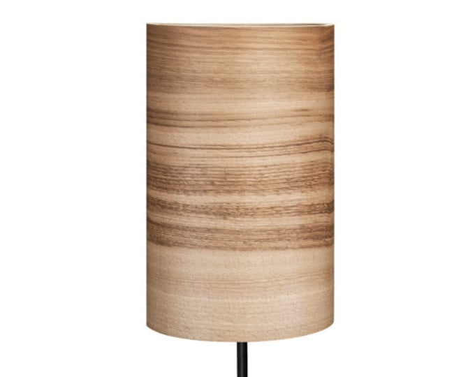 Special Order For Cad - Natural Wood Foor Lamp - Nickel Lamp Base