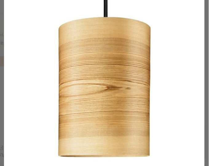 Bedside Lamp JENS - Natural Wood Shade