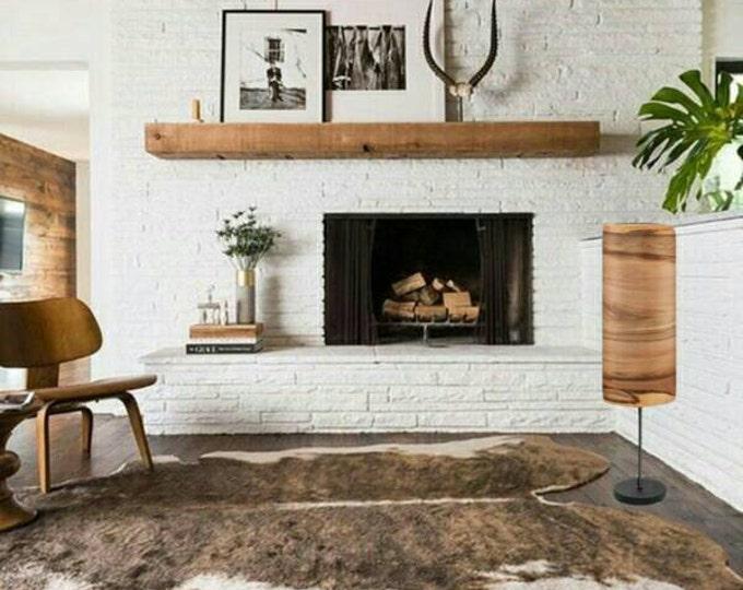 Floor Lamps - Special Design - Ambient Lighting - Satin Walnut Veneer - Unique Lamp