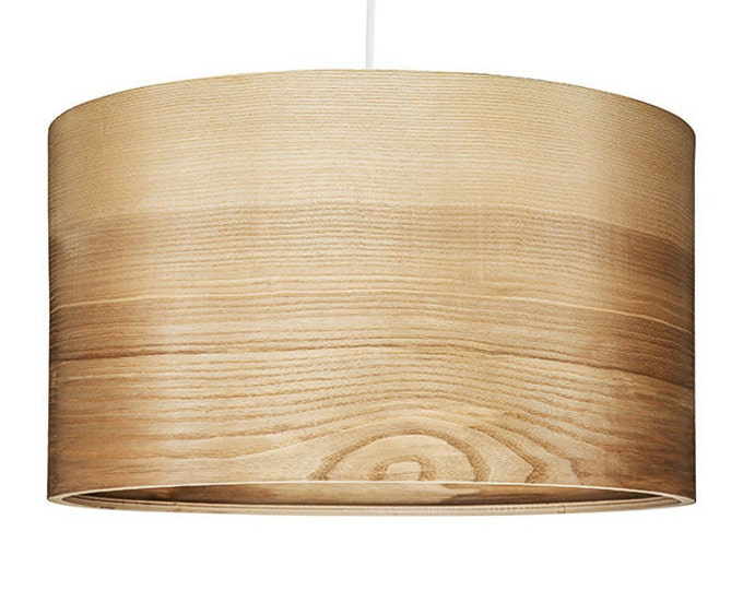 "Pendant Light - Natural ASH Veneer Lampshade - Scandinavian Style Lamps ""JENS"""