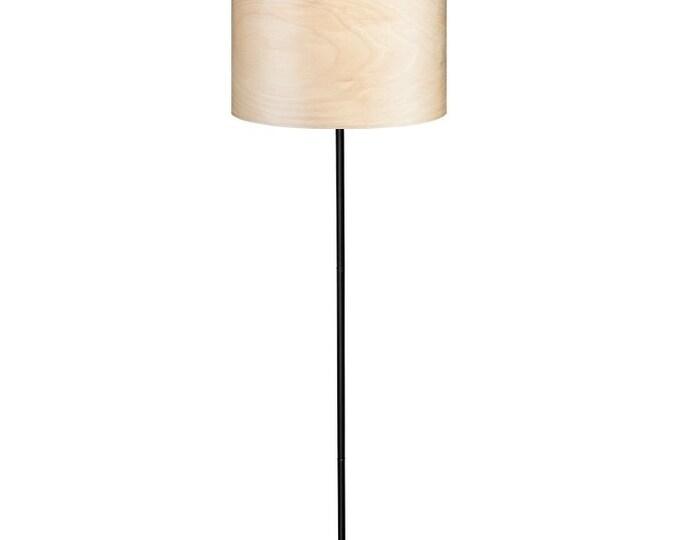 Floor Lamp Veneer - Natural Wood Veneer - Finnish Birch Tree Veneer - Scandinavian Style Wooden Floor Lamp - BERA