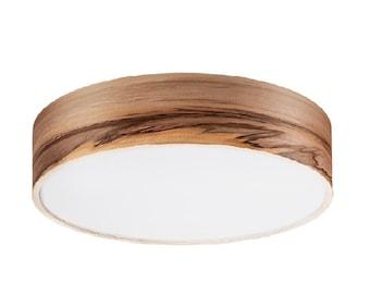 Flush Mount - Floating Lamp - Wood Veneer Light