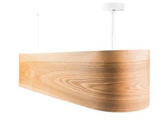 Pendant Lamp - Hanging Chandelier Ceiling Lamp Veneer Lamp Wood Lamp Drop Light Dining Room Lighting HEARTWOOD ASH