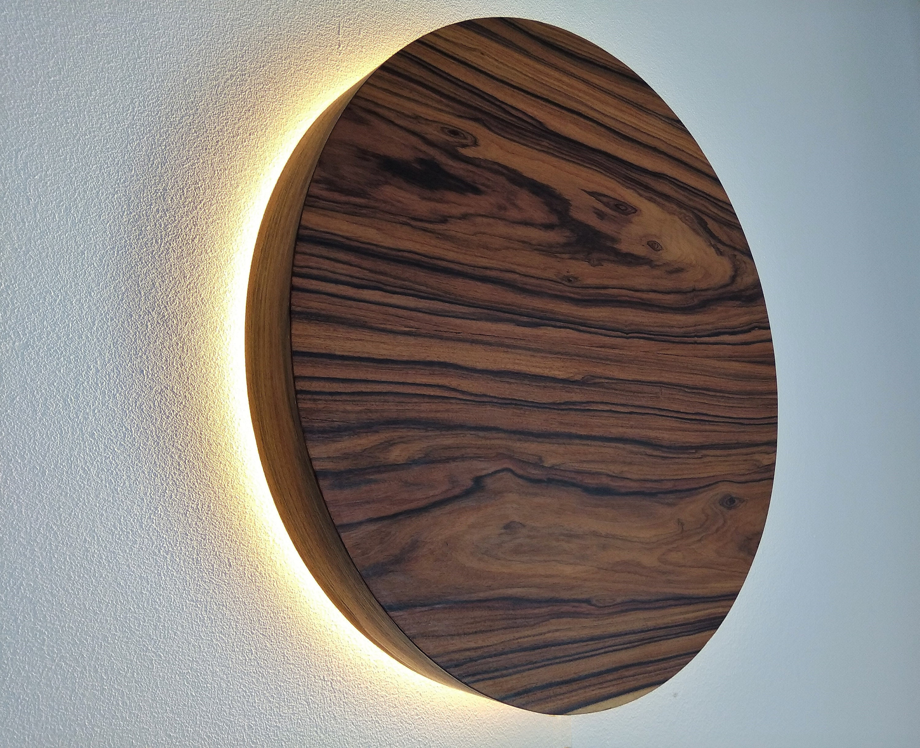 Led Wood Sconce Wooden Wall Lamp Light Natural Hard Wiring Sconces New Nordic Design Jacaranda