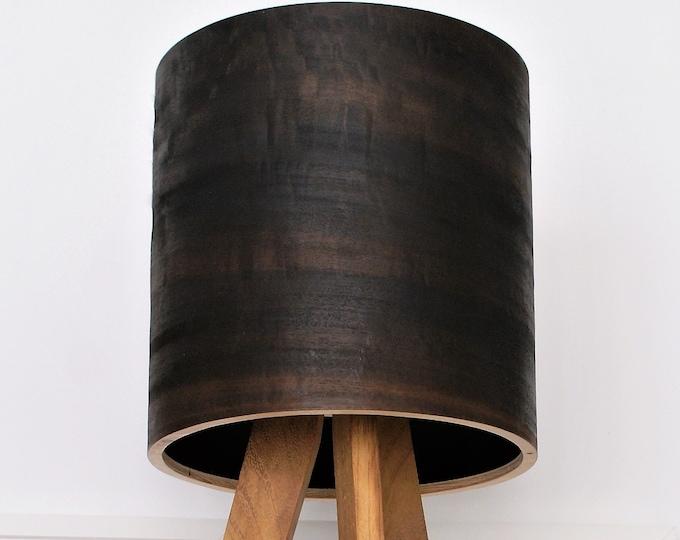 Tripod Table Lamp - Eucalyptus Shade - Natural Wood - Night Light - Bedside Lamp - Modern Lamp - Natural Art