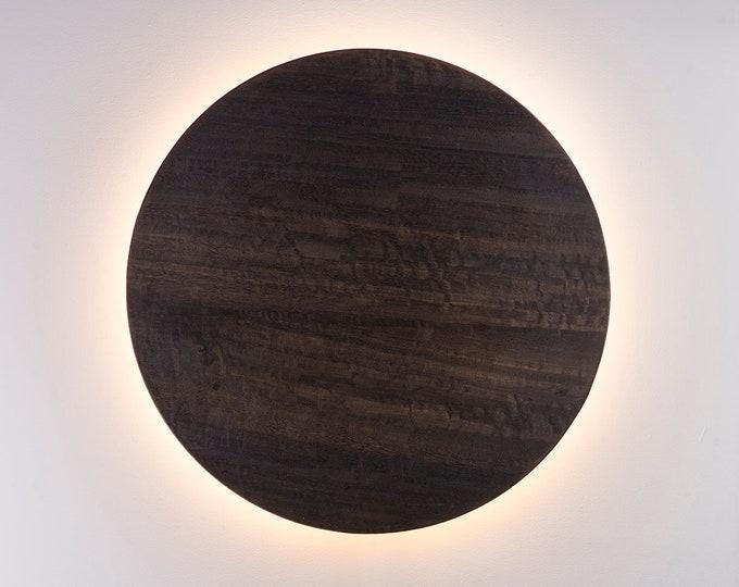 Wood Sconce - Modern Wall Decor LED Light Natural Eucalyptus Veneer