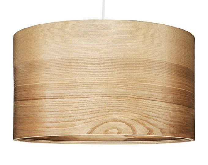 """Pendant Light - Natural ASH Veneer Lampshade - Scandinavian Style Lamps """"JENS"""""""