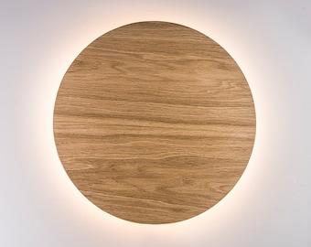Wood Sconce Light - Modern Wall Lamp Natural Wood Nordic Decor Lighting Fixture Designer Accent Lamp Geometric Wall Decor