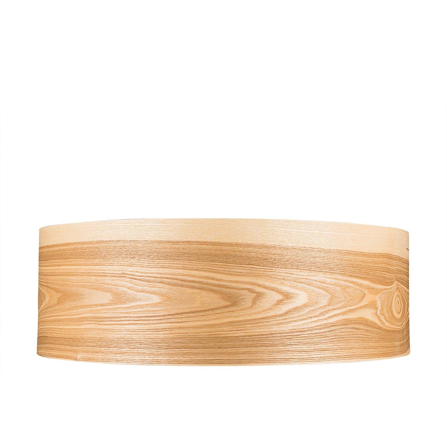 Flush Mount Wood Veneer Light Wood Lamp Wooden