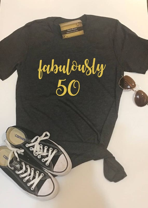 909b6c44b Custom Glitter Women's fabulously 50 Glam 50th Birthday 50 | Etsy