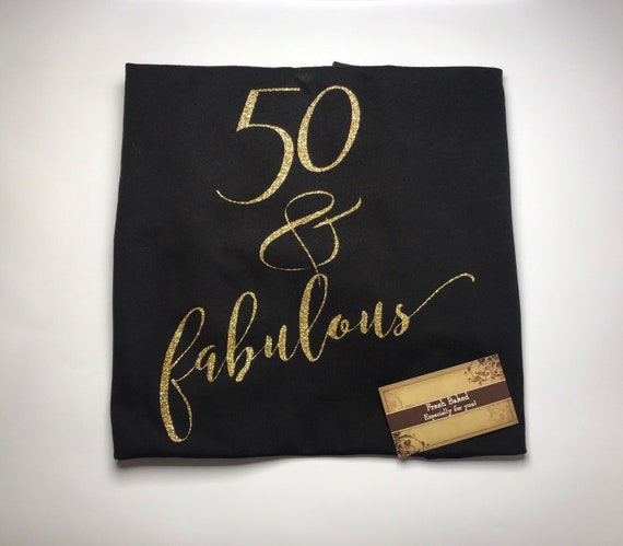 fa82e536d ... Custom Glitter Women's 50 & fabulous Glam 50th Birthday 50 Shirt | Womens  Birthday Shirt