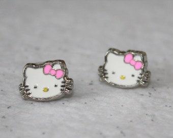 4c9794a5a Hello kitty earrings | Etsy