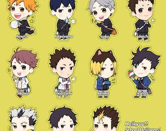 Haikyuu!! School Uniform Charms