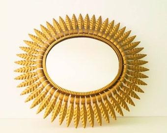 Ronde Spiegel Goud : Gouden zon spiegel etsy