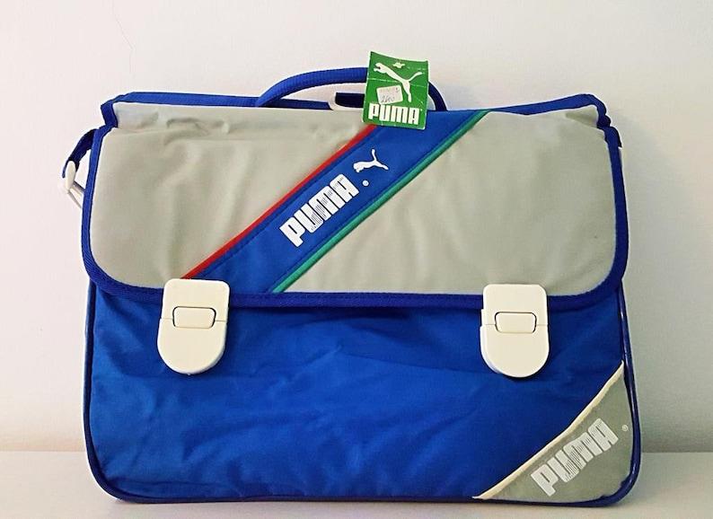 a451c82863f7 Shoulder bag Puma Blue and grey years 80 80s Puma Shoulder bag