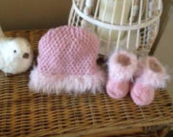 Hand knitted baby beanies
