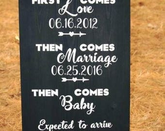 Hand painted Special Date Announcement Sign