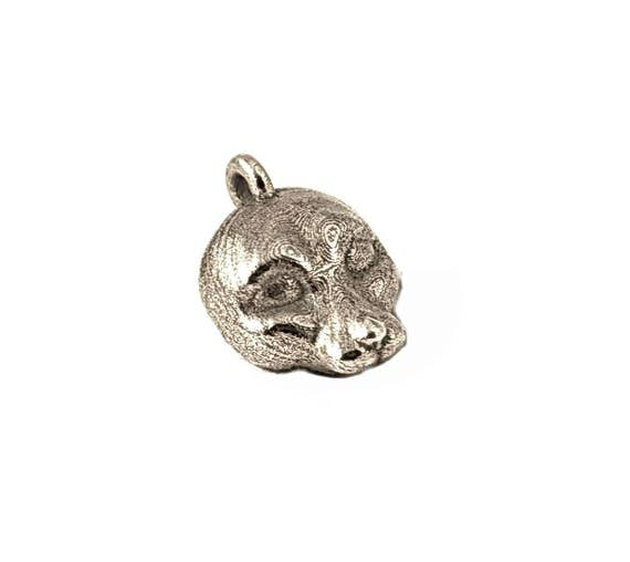 Mouse pendant mouse totem also available in Gold or Bronze steel mouse animal pendant Solid Stainless steel mouse necklace