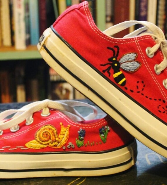Custom Embroidered Converse Sneakers