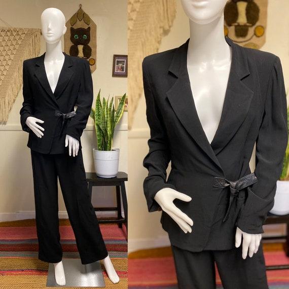 Sonia Rykiel Pant Suit Designer Pantsuit Black Wom