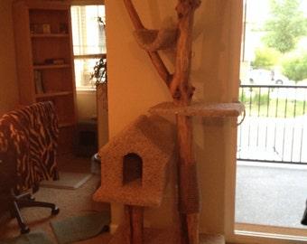 Custom Natural Branch Cat Tower
