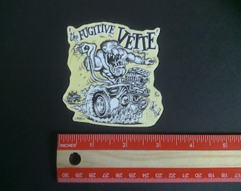 Ed big daddy roth 1965 corvette vintage style racing decal sticker