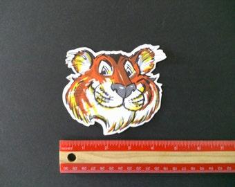 Enco tiger vintage  style racing decal sticker